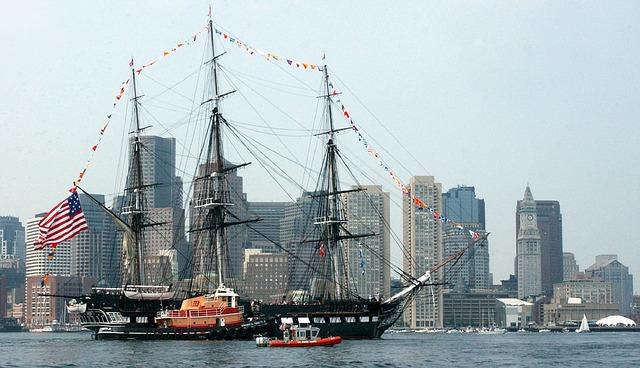 USS Constitution ship in Boston